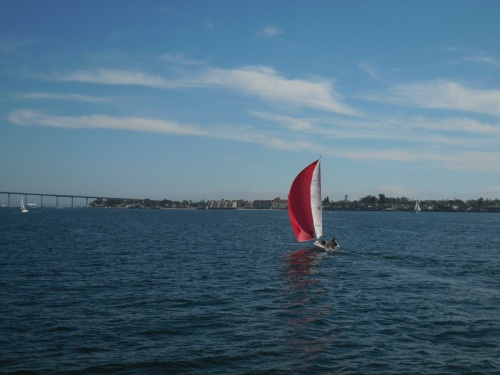 Sailboat on the harbour 2