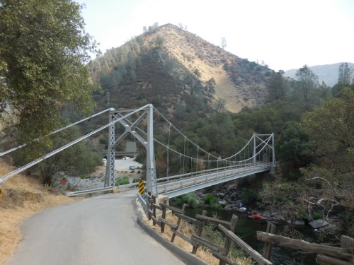 Suspension bridge over Merced RIver