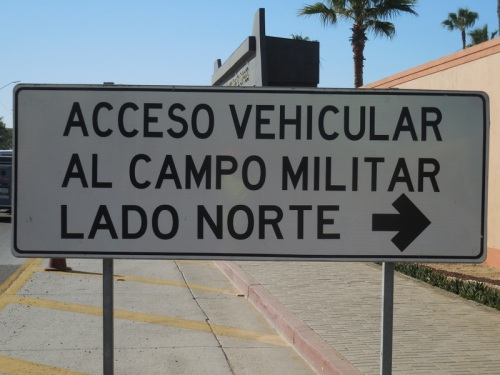 Car access to north side military field