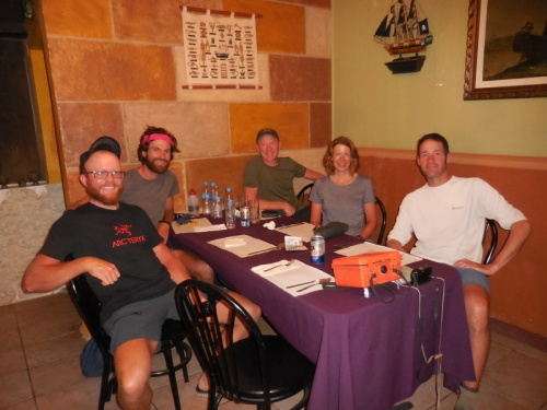 Five cyclists for dinner