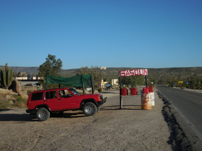 Gas station in Catavina