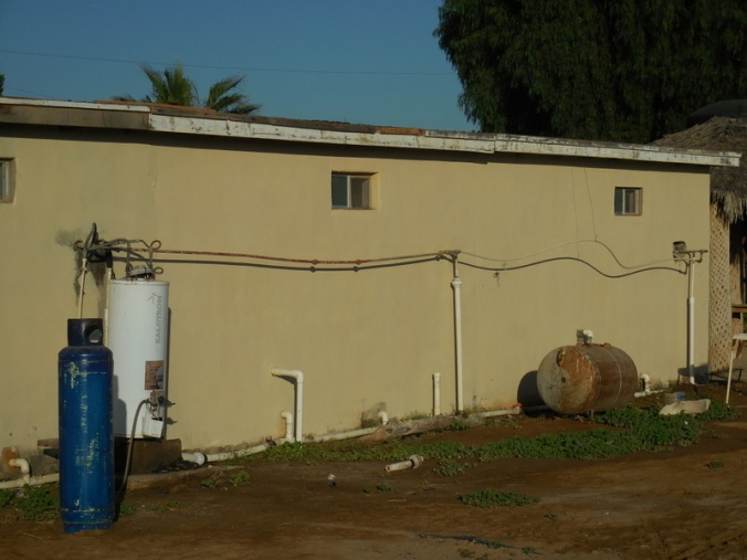 Hot water system for our room - the middle one of three