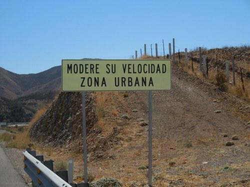 moderate speed urban area