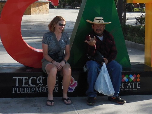 Nancy's new Tecate friend