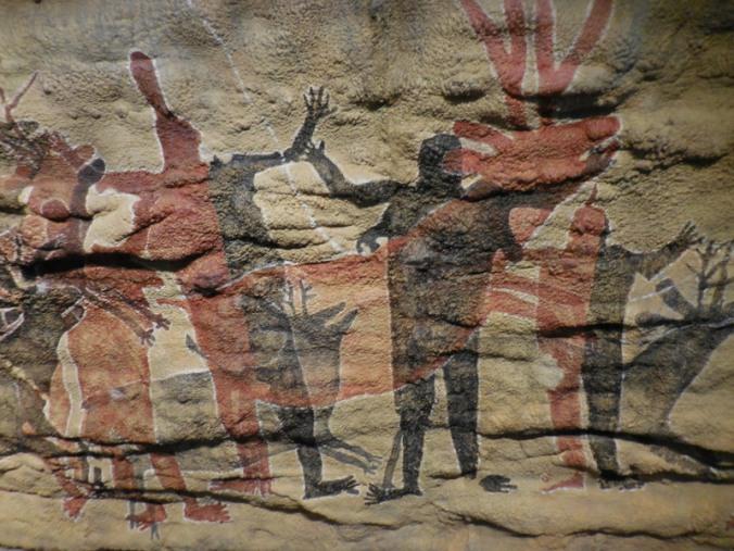 Replica cave paintings