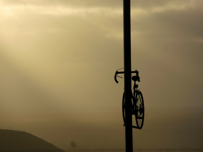 Riding off into the sunset - spare bike