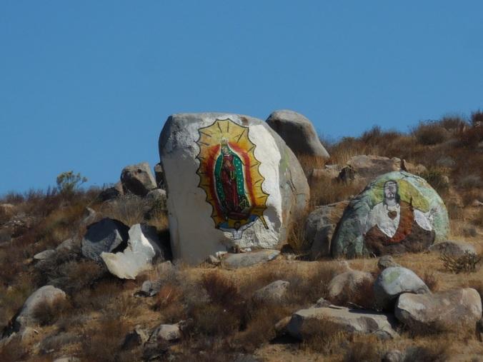 Saint on the rocks
