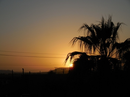 Sunset in a Mexican town 2