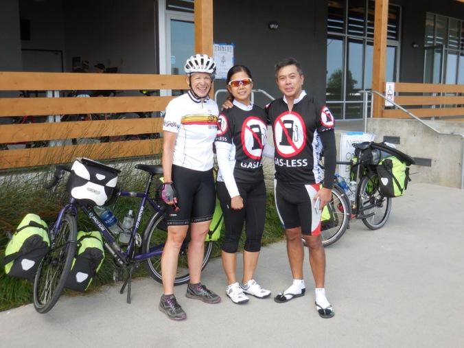 Two American-Philipino riders and Nancy