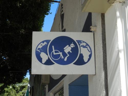 Handicaped diver
