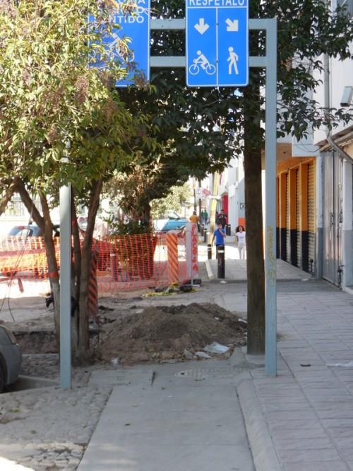 Bike path in Leon - ends