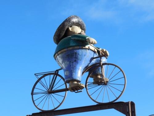 Fat guy on a bike 1