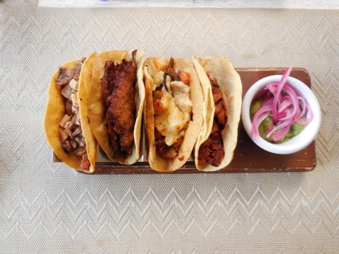 Four taco dinner