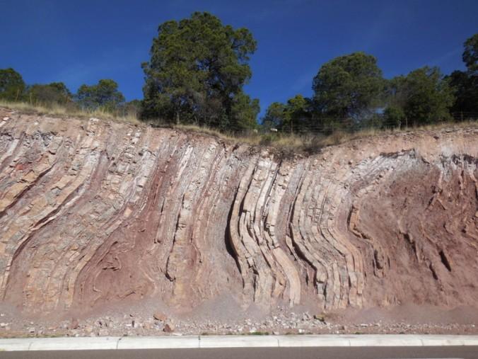Great rocks in road cut