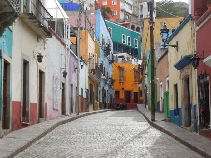 Guanajuato street of the day