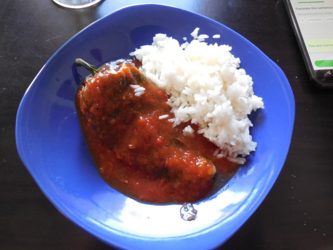 Lunch - chili rellenos