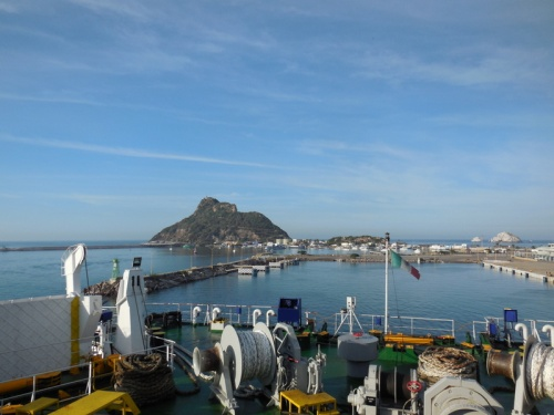 Mazatlan harbour - ferry backing in