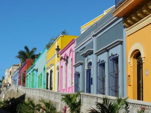 Mazatlan oldtown buildings