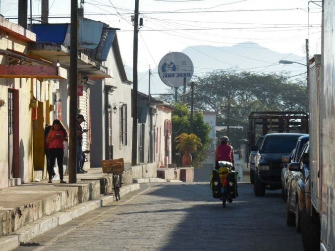 Mexican village in the morning
