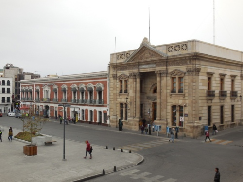 Pachuca town square from our room 2