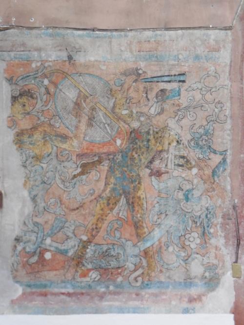 Temple of San Miguel Archangel mural