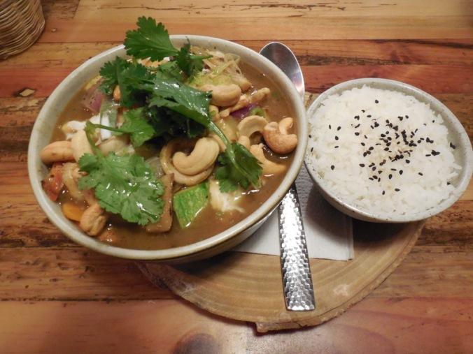 Dinner - green Thai curry