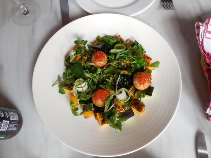 Dinner - Mango and avocato salad