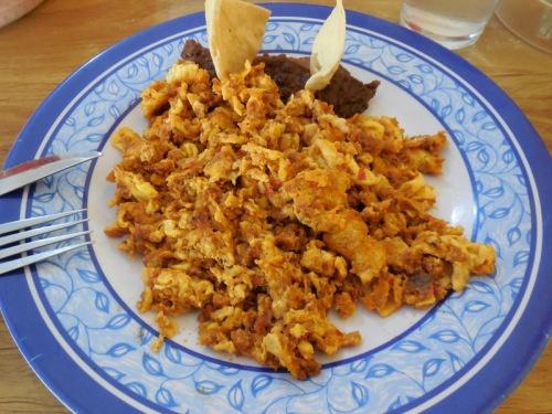 Eggs and chorizo