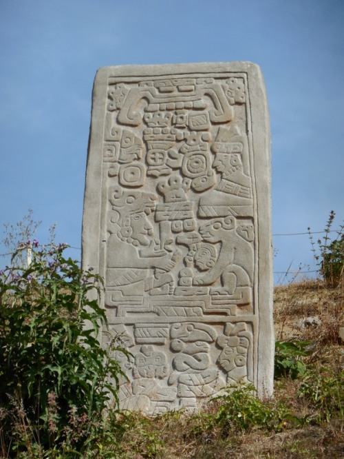 Monte Alban relief - 4 women, 1 man - rulers at the time