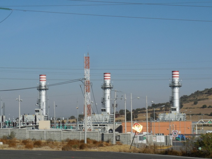 Power plant along the road