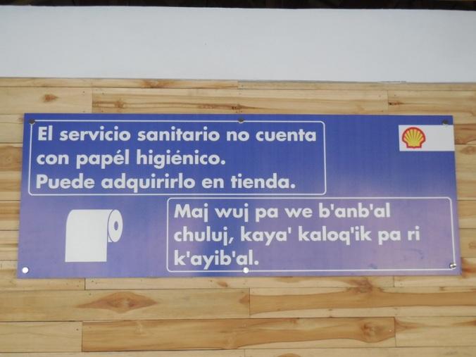 Sign at Shell