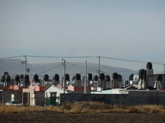 Water tanks at subdivision