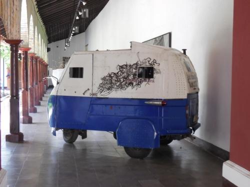 Armoured tuk-tuk