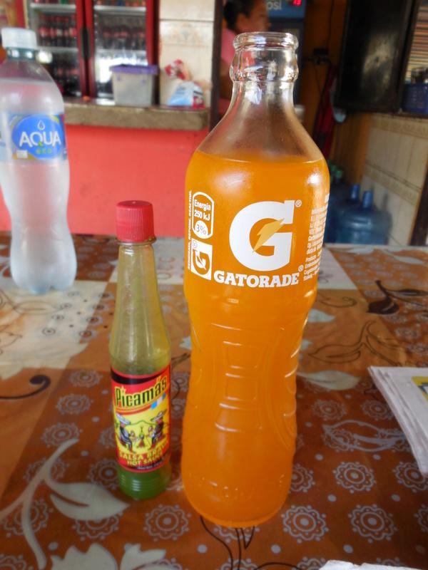 Gatoaide in glass bottle