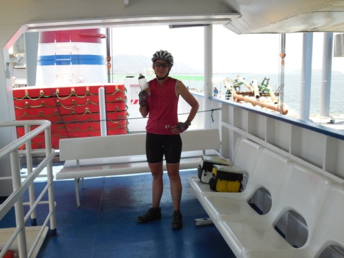 Nancy on ferry