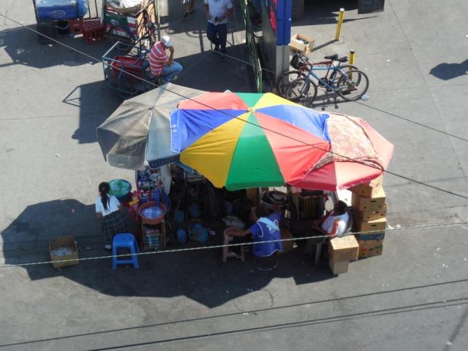 Street sellers in San Miguel