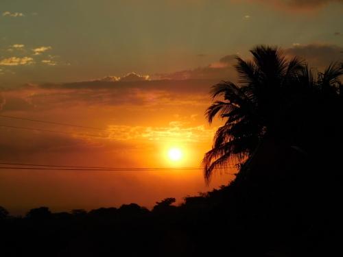 Sunset at hotel