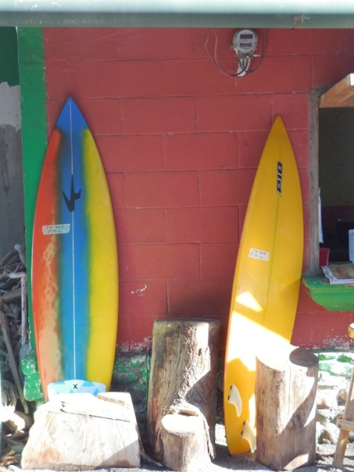 Two boards for sale - We could buy them and hang out here for a while