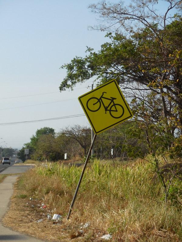 wonky bike sign