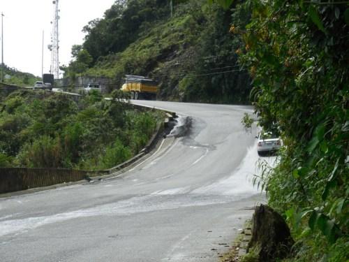 Andes road - steep