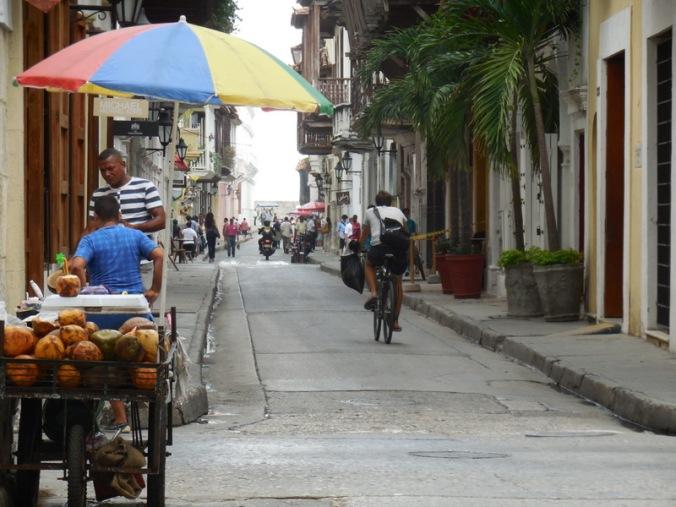 Cartagena oldtown street scene 1