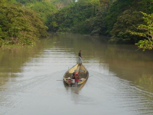 Cauca River boat