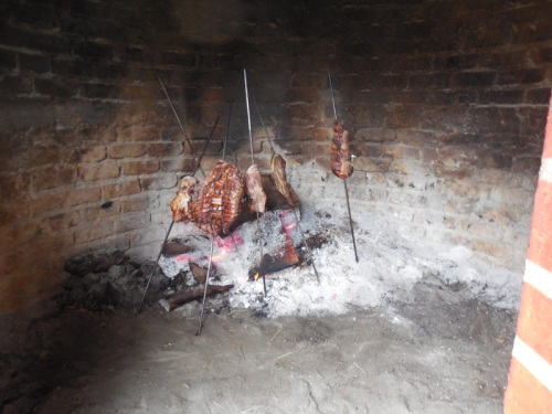 Hotel Botija meat cooking