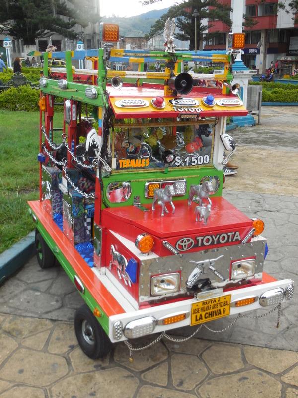 Kids bus in park
