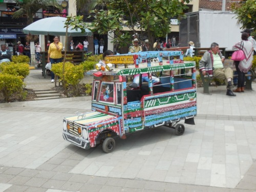 Mini Bus in square