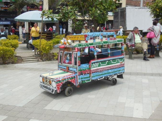 Mini Bus in square