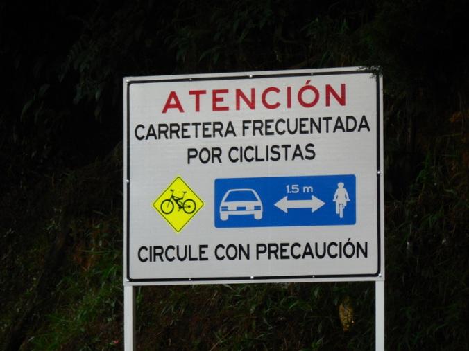 Nice sign - not everyone gave us 1.5 meters 1