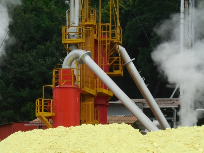 Passed a sulfur plant