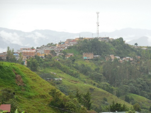 Ridge village in the Andes