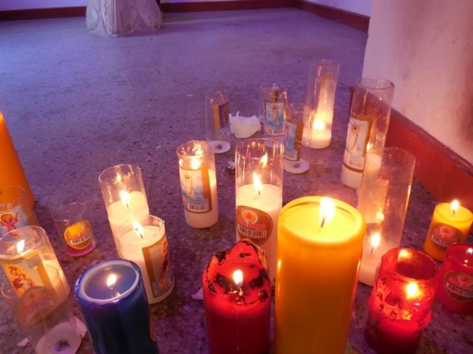 Santa Rosa de Osos church candles